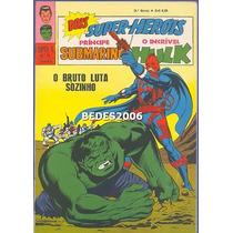 Super X - Namor & Hulk Nº 36 - Ebal - 1970 - Excelente!