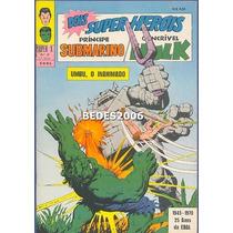 Super X - Namor & Hulk Nº 34 - Ebal - 1970 - Excelente!