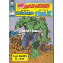 Super X - Namor & Hulk Nº 29 - Ebal - 1970 - Excelente!