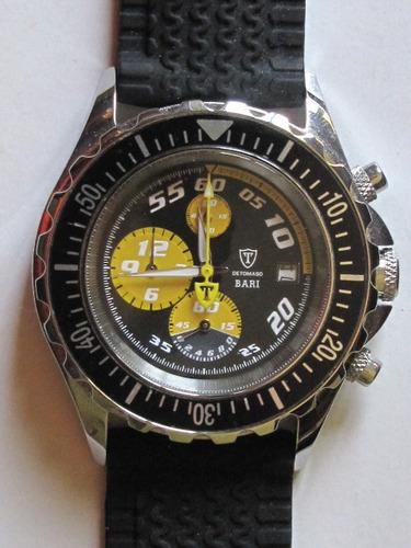 De Tomaso Mod. Bari Yellow Chrono Tachym. Novo Res. 200 M