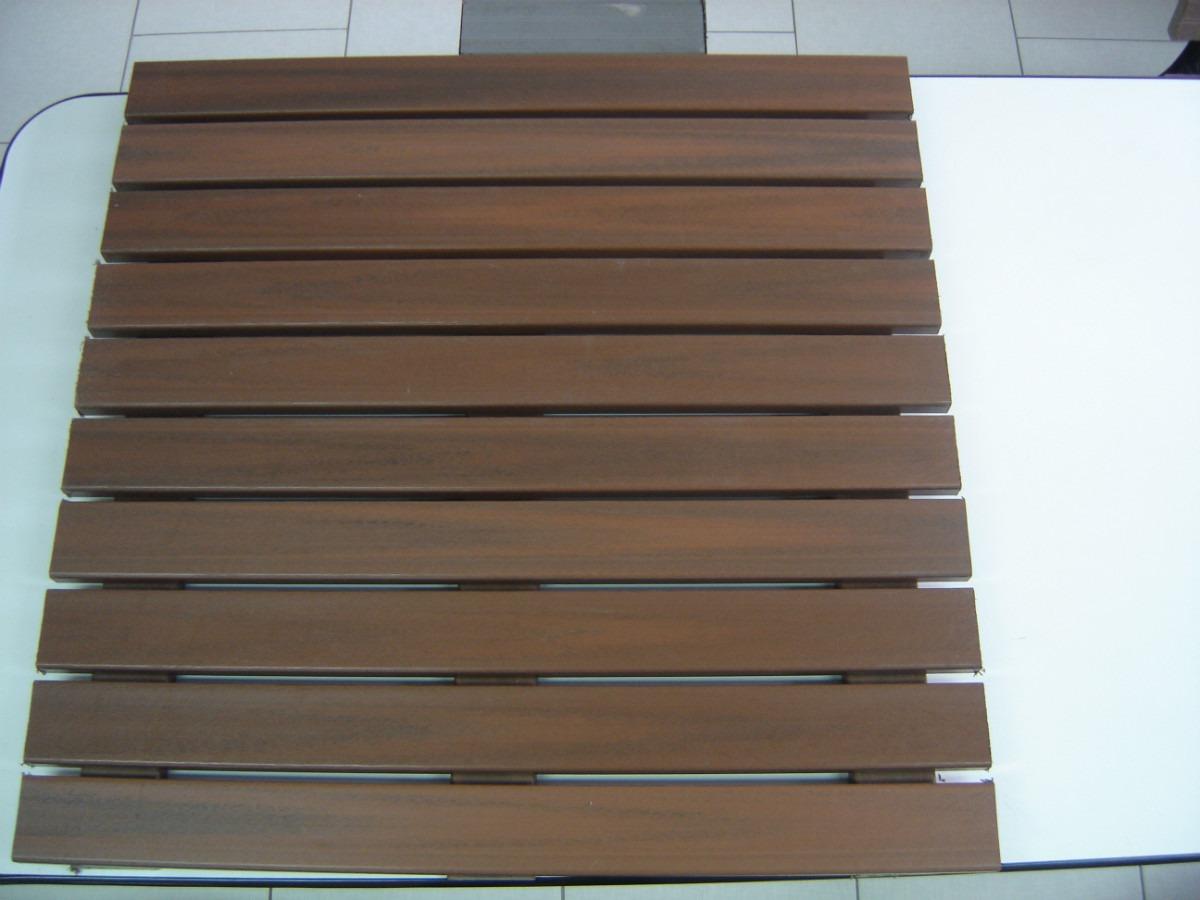 Deck Madeira Plástica Modular 1m X 1m . R$ 250 00 no MercadoLivre #447788 1200x900