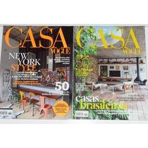 2 Revistas Casa Vogue Maio\jun\2014-sem Uso\excelente Estado