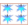 4 Sputnik Estrela 13 Pontas 80cm,iluminação,natal, Decoração