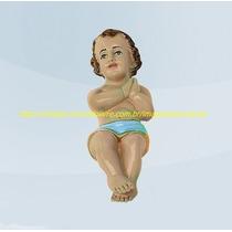 Linda Escultura Menino Jesus Cristo Bb Presépio Imagem 20cm