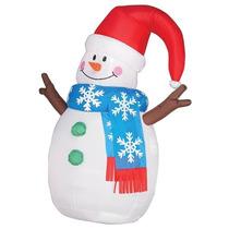 Inflável Para Decoração De Natal Importado Boneco De Neve