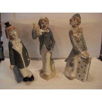 Tres Lindas Esculturas-palhaços -porcelana Casa Ades-spain