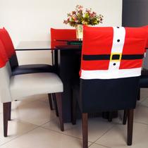 Kit Com 6 Capas De Cadeira - Roupa De Papai Noel