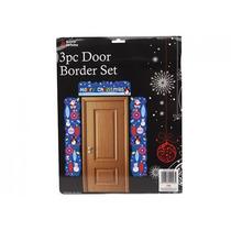 Decoração De Natal - 3pc Cartão Do Xmas Porta Border Set