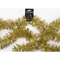 Decoração De Natal - 2 Metrex 10cm 4 Ply Ouro Tinsel