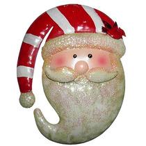 Rosto Papai Noel Natal Decoracao Natalino Kit Com 5 Uni