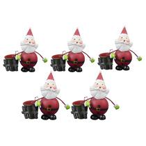 Kit Papai Noel Natal Natalino Com 5 Uni Decoracao Enfeite