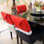 Kit Com 4 Capas De Cadeira - Gorro Papai Noel + Brinde