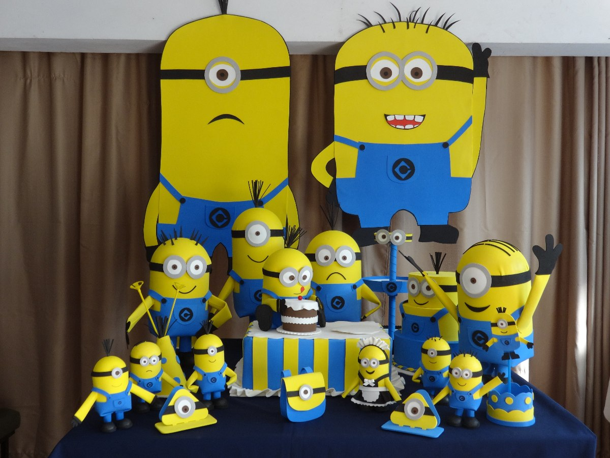 Decora?ao De Festa Minions 14 Pe?as - R$ 550,00 no ...