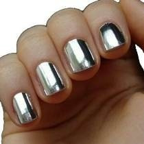 Película Cromada Prata Nail Art (adesivo Recortado)
