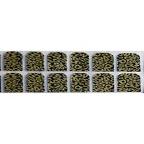 Adesivo De Unha (ref: 028) Pelicula Onça Dourado Preto