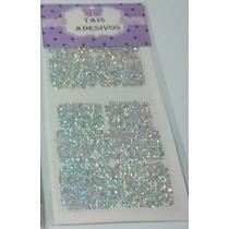 168 Pelicula Glitter Prata Holografico+frete Grátis