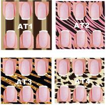 50 Cartelas Plastificada P/adesivo Artesanal C/ Base/6e4 Unh
