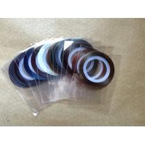 15 Rolos Fitinhas Metalizada Adesiva Para Unha