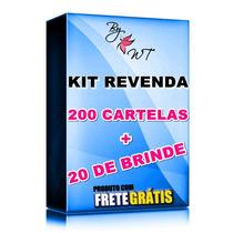 Kit Revenda Atacado Adesivo Películas Para Unha 200 Cartelas