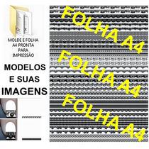 Kit Imagens 48 Francesinhas Tirinhas3 +brind Películas Unhas