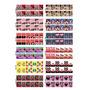 Kit Com 10 Cartelões / 120 Cartelas Adesivos Película Unha