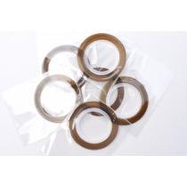 10 Rolos De Fita Adesivas Metalizadas Prata + Brinde