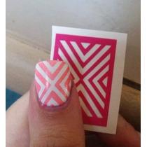 Nail Stamp Stencil Vinil Para Decoração De Unhas Mani Tape