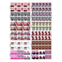 Cartelão 12 Cartelas 144 Adesivos Película Unha Frete Grátis