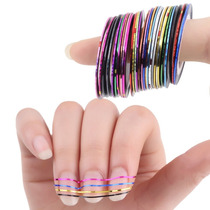 Kit Com 20 Fitas Metalizadas Adesivas Para Unhas Nail Art.