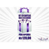 Películas De Unhas Kit120 Cartelas+20 De Brinde-frete Grátis