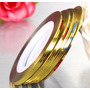 Fio De Ouro Fita Adesiva Unha, Rolos Fita Metalizada Adesiva