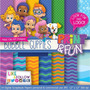 21 Itens Kit Digital Editavel Scrapbook Bubble Guppies