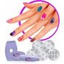 10x Kit Salon Decoraçao Unha Carimbo Manicure 5 Placas
