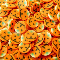 Fatias De Fimo Decoração De Unhas Halloween Abobóra Nail Art