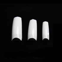 500 Tips Unhas Acrilica Branca Gel + Brinde