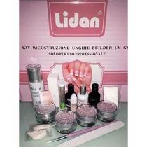 Kit Gel Lidan Luxo 16 Itens Manicure Profissional Acrigel