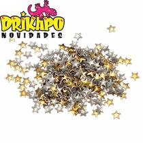 Tachinhas Spikes Estrelasu Ouro Unhas Decoradas 4mm
