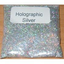 Nail Art - Glitter Holográfico Ultrafino .008 - Prata - 25g