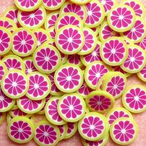 Fatias De Fimo Para Decoração De Unhas Grapefruit Nail Art