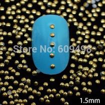Spikes Dourado Para Decoração De Unhas Com 100 Unidades