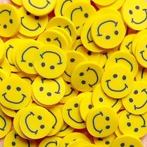 Fatias De Fimo Decoração De Unhas Emoji Smiley Nail Art