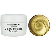 Gel Uv Metálico Dourado 5ml Pronta Entrega