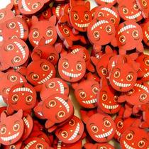 Fatias De Fimo Decoração De Unhas Halloween Devil Nail Art
