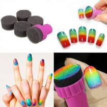 Nail Art Projeto Estamparia 1 Stamper 4 Mutável Esponja Som