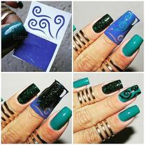 Nail Stamp Zig Zag Nail Art Unha Decorada Stencil Vinil