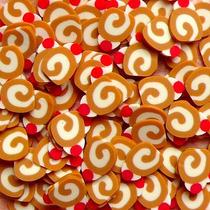 Fatias De Fimo Decoração De Unhas Candy Rocambole Nail Art