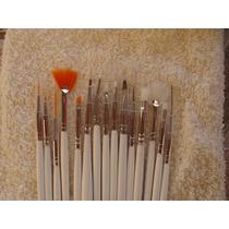 Kit 15 Pincéis Para Decoração De Unhas