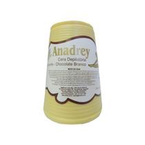 Cera Depilatória Chocolate Branco Anadrey 400g