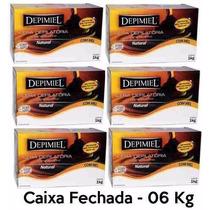 Cera Depilatória Natural Depimiel - Kit 6 Kg Caixa Fechada