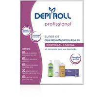 Kit Depi Roll Para Depilação Bivolt + 2 Ceras Depi Roll